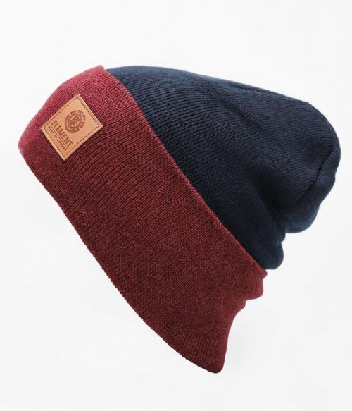 ELEMENT MENS HAT.DUSK II NAVY KNITTED TURN UP/DOWN WOOLLY BEANIE CAP 8W A2 120